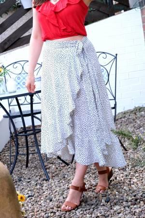 How to Make a Wrap Skirt with a Ruffle Hem