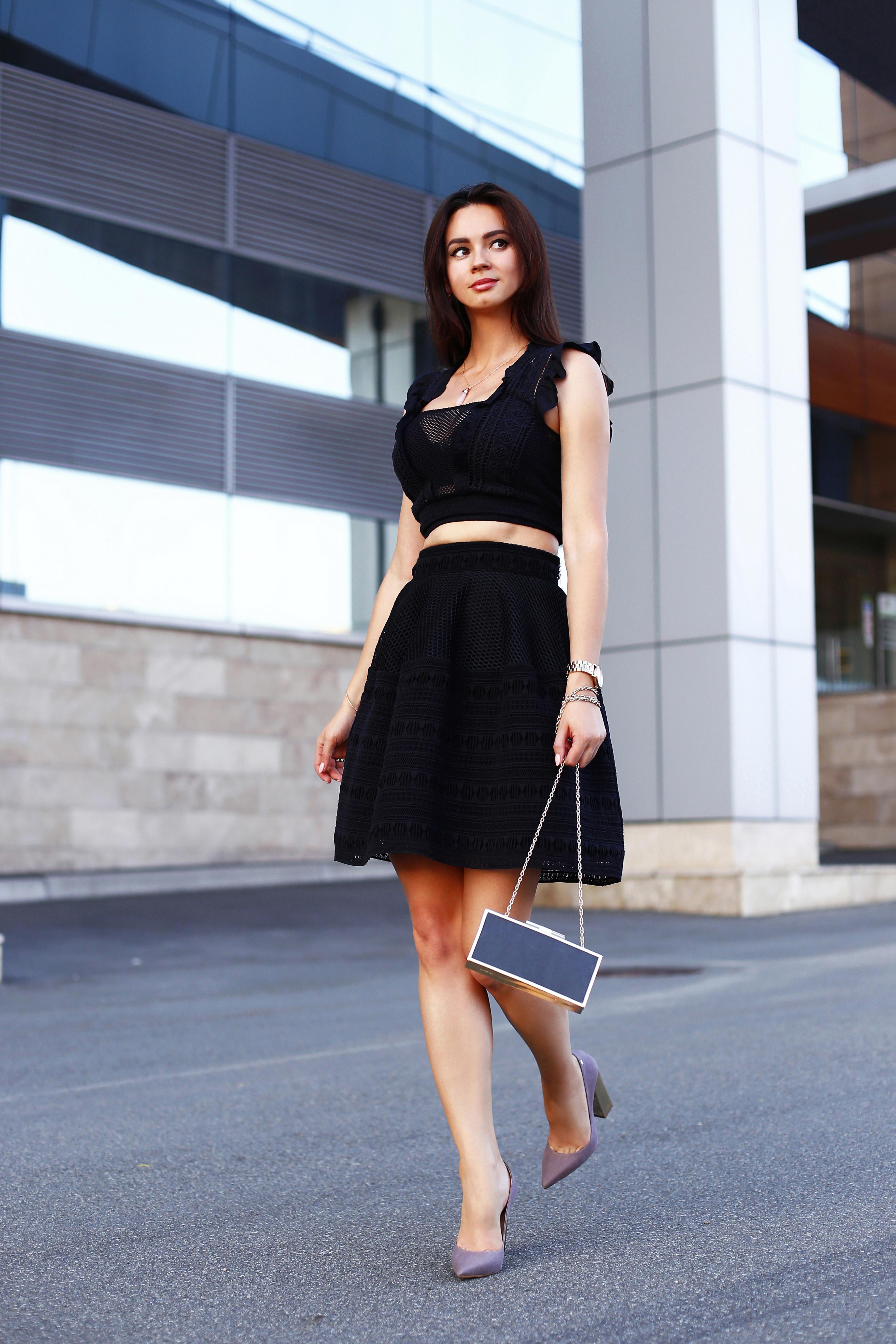 Black crochet