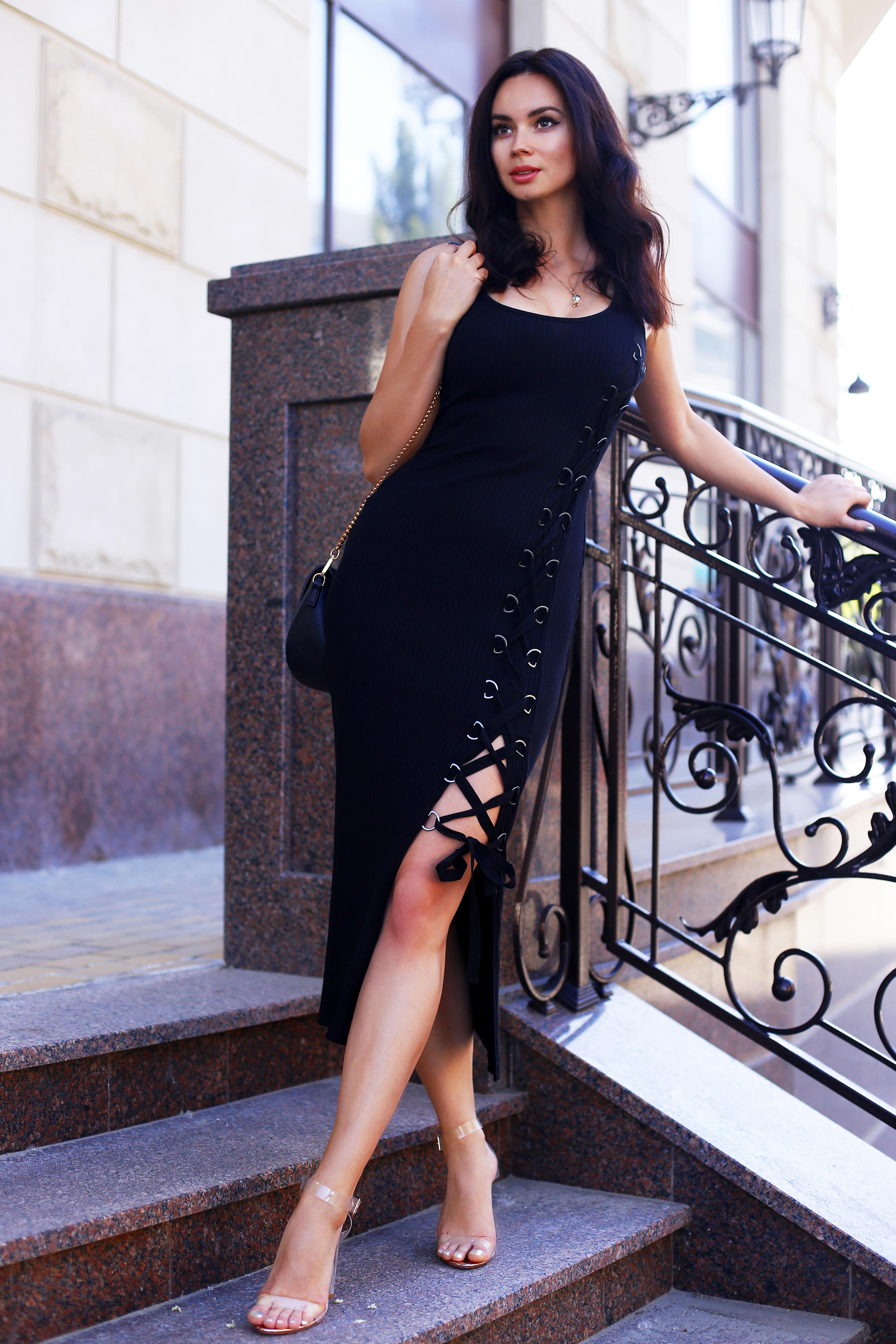 Tommy Rib black dress