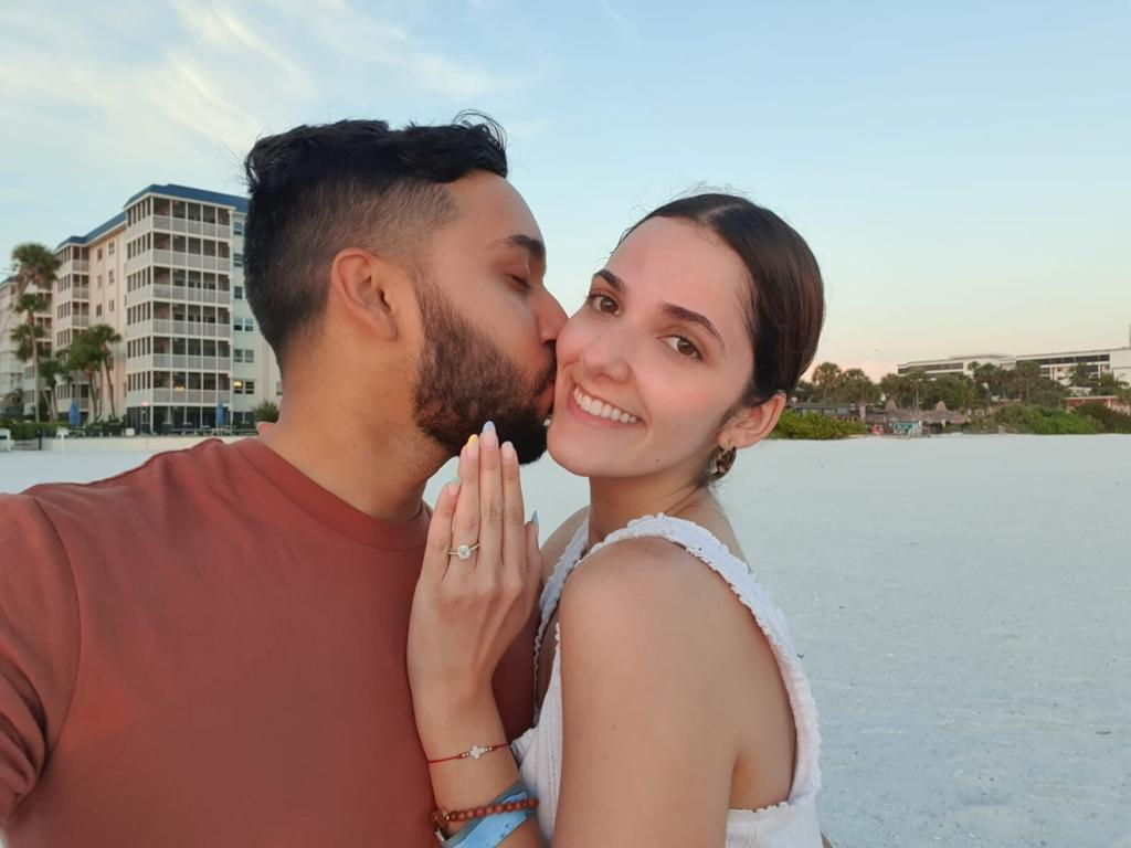 I got engaged in Sarasota, Florida!