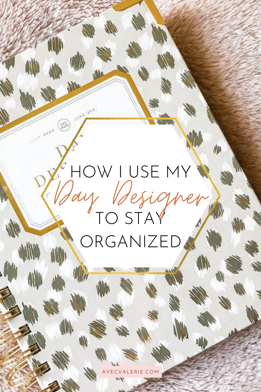 How I Use My Day Designer to Stay Organized