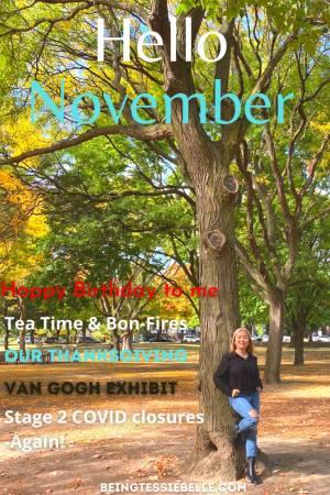 Hello November - A Journal Entry - November 1st 2020