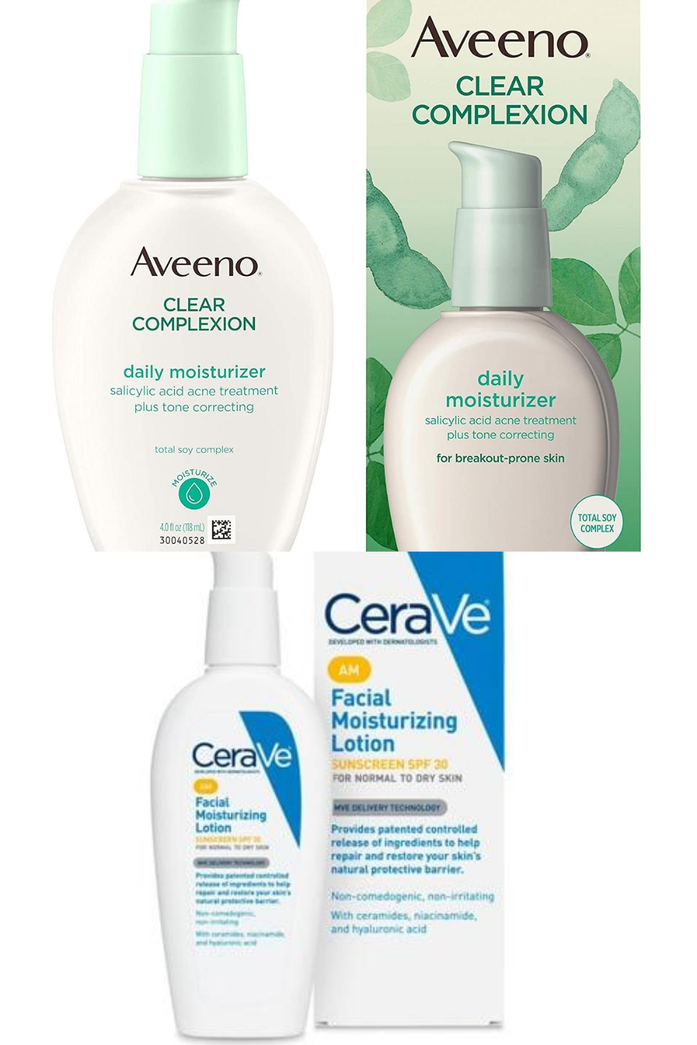 Aveeno Clear Complexion vs. CeraVe AM Facial Moisturizer | The Pros and Cons of Each Product | My Comparison