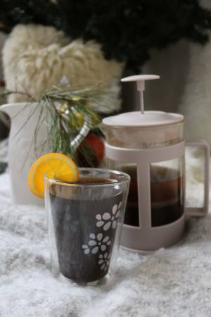 DELICIOUS WINTER   CINNAMON ORANGE FLAVORED COFFEE