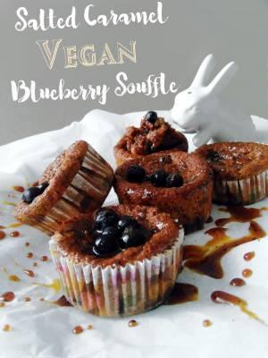 Salted Caramel & Blueberry Soufflé
