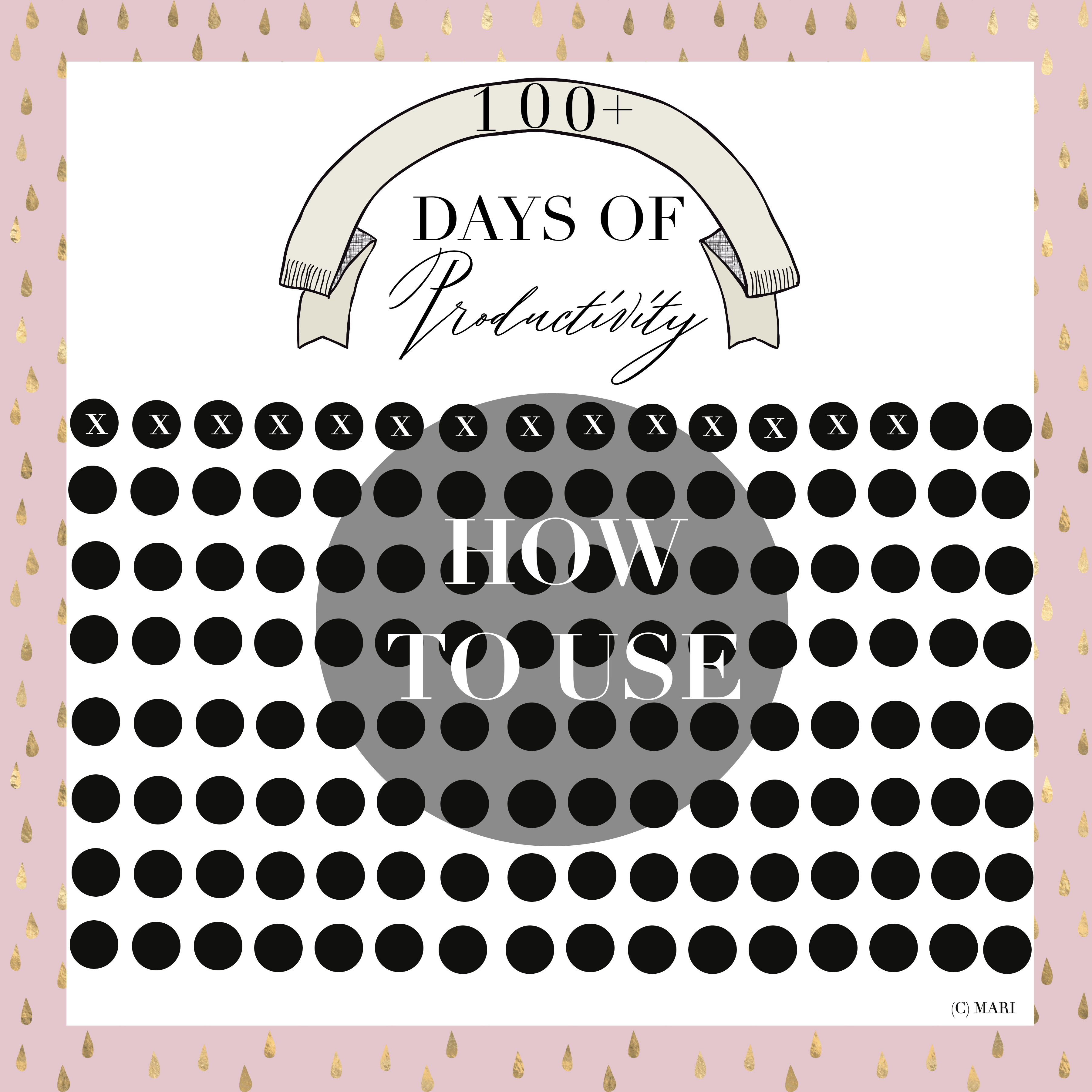100+ Days of Productivity | Shop @ Gumroad | By Mari