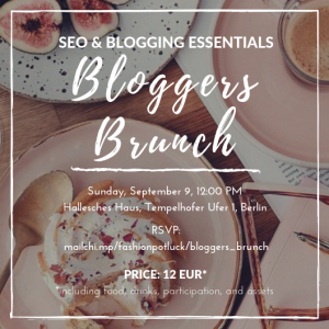 Bloggers Brunch Berlin - SEO & Blogging Essentials