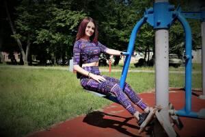 WOMAN SPORT OUTFIT | Mauve leggings