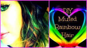 DIY Muted Rainbow Hair - Get the look   Haley-Louise  