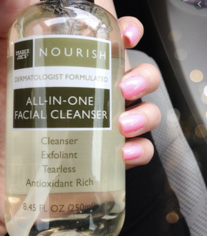 Trader Joes Nourish All-in-One Facial Cleanser Review