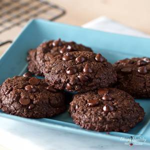 Healthy Double Chocolate Chip Cookies (Nut-free, Grain-free, Gluten-free)