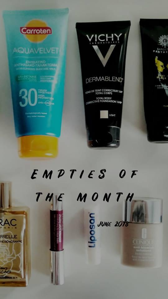 Empties of the month- June 2018