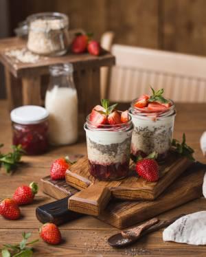 Overnight oats in a jar