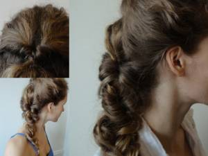 romantic Topsy Tail Braided - easier than it looks