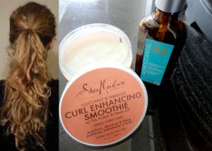Natural hair care for curly hair