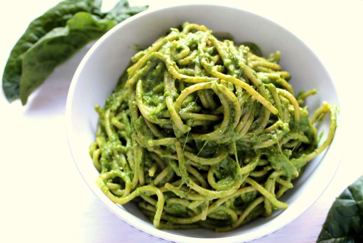 Quick, Easy and Delicious - Avocado Spinach Pasta