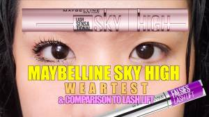MAYBELLINE SKY HIGH MASCARA ON STRAIGHT ASIAN LASHES