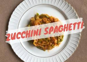 Healthy Spaghetti With Zucchini - Low Carbs