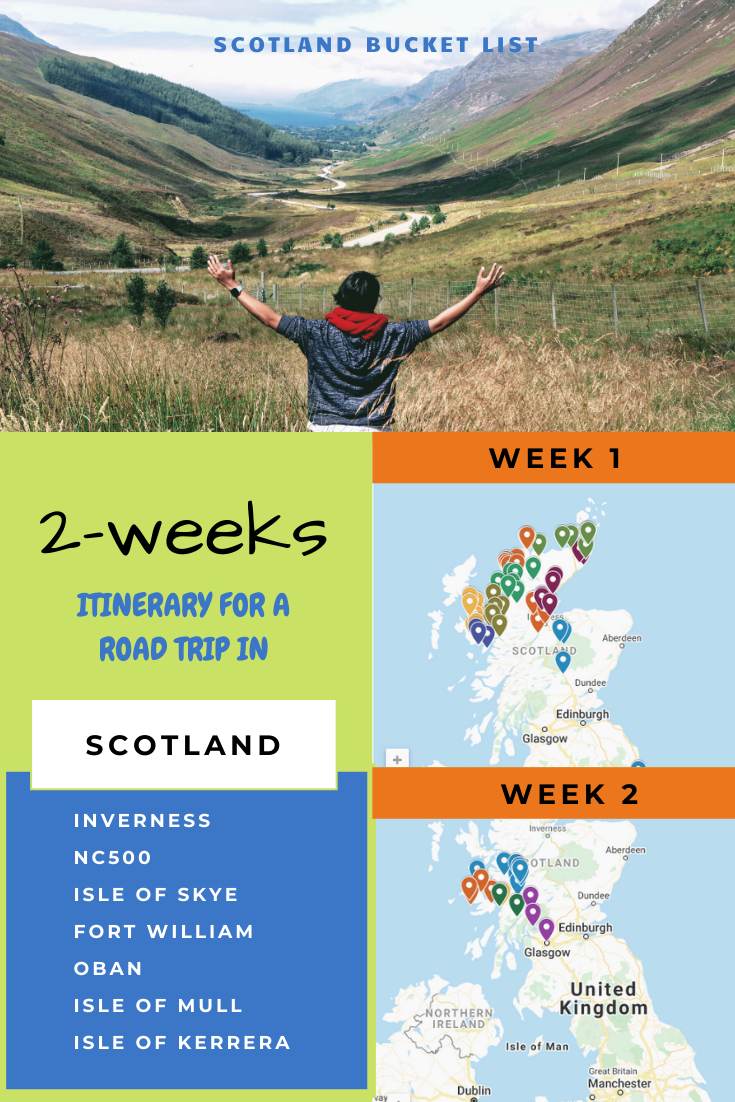 Complete Itinerary for Exploring Scotland, NC500 and Nearby Islands