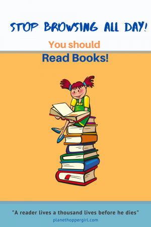 Stop Browsing, You should Read Books!