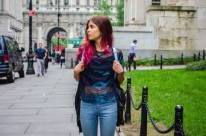 Mermaid Vibes: Iridescent Blue Top in New York