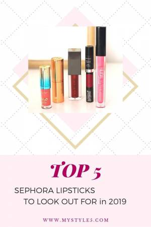 My 5 Best Sephora Lipsticks for 2019!