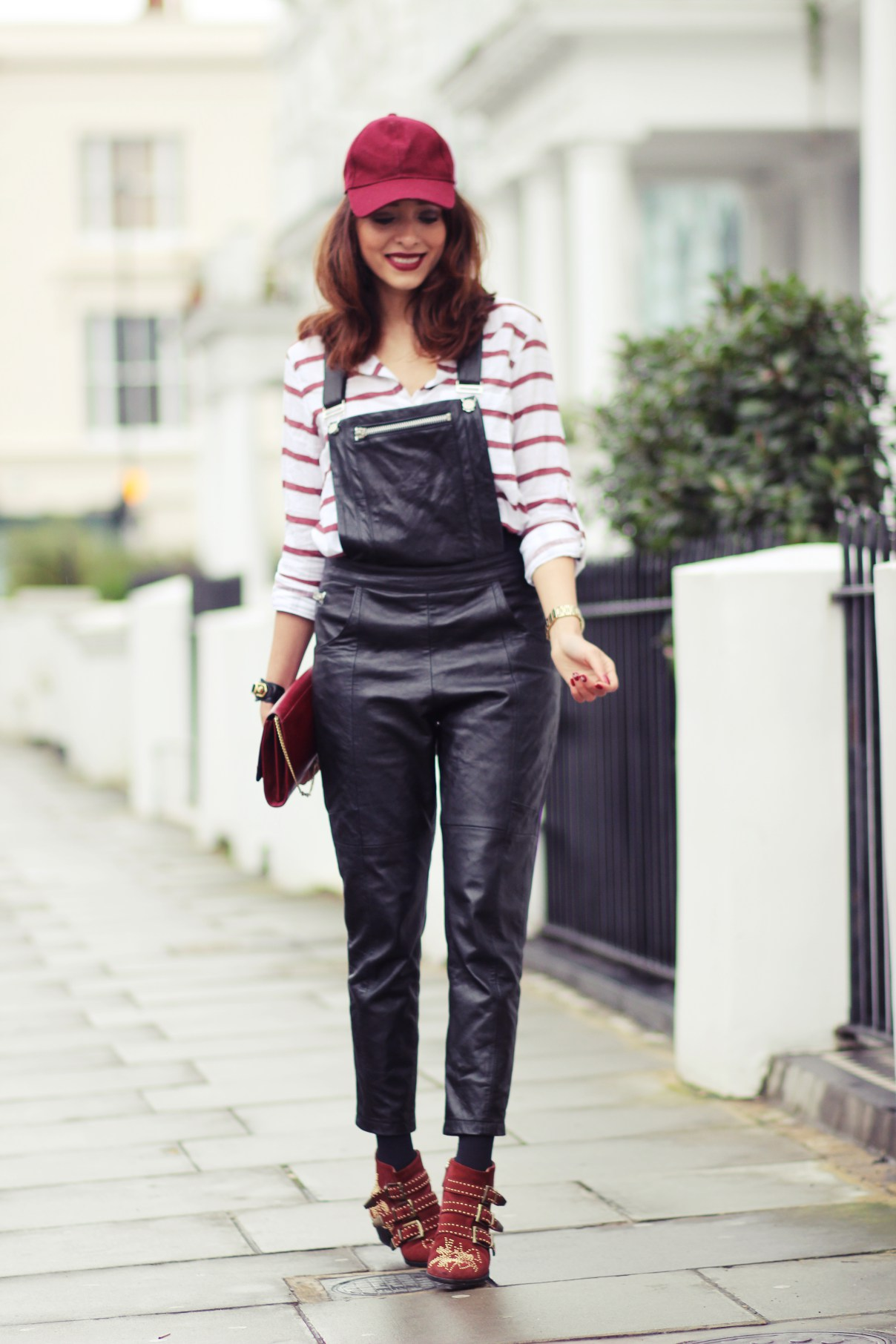 Leather Dungarees in London