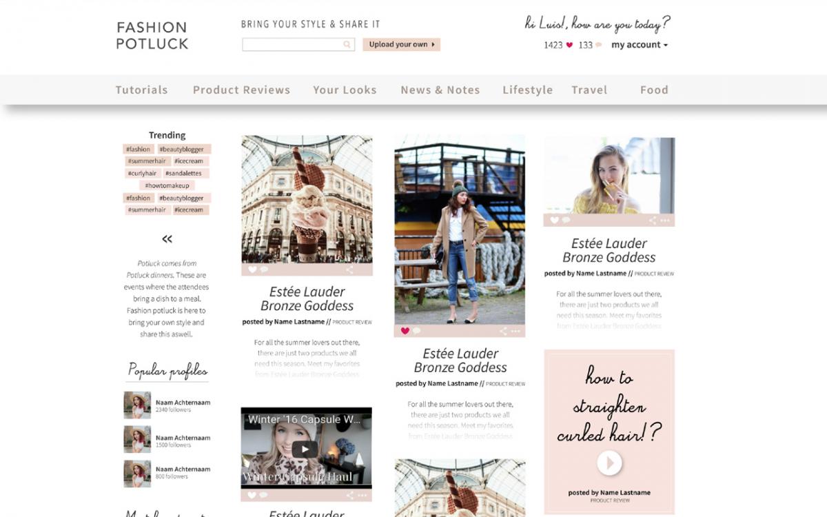 fashionpotluck blogger community